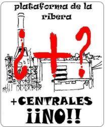 Logotipo Plataforma de la Ribera + Centrales NO