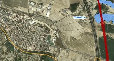 Afecciones del TAV al casco urbano de Cadreita