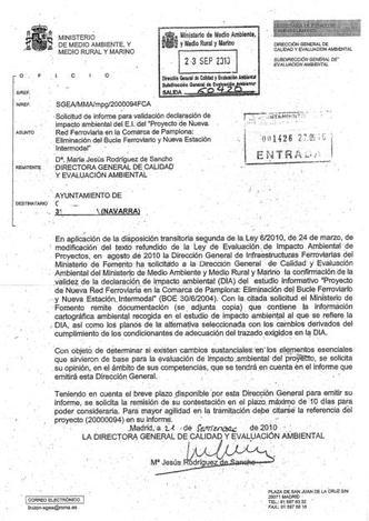 Imagen de la solicitud enviada por el ministerio a los ayuntamientos