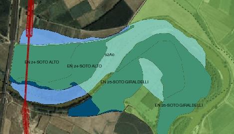 Zona por donde pasaría la línea eléctrica cerca de Castejón