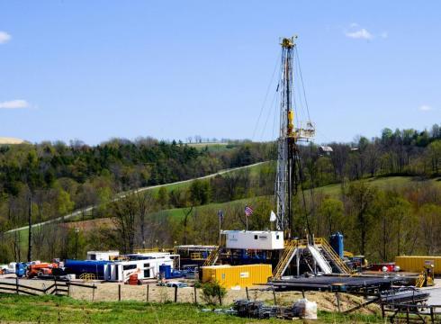 Foto de un pozo de fractura hidráulica en EEUU