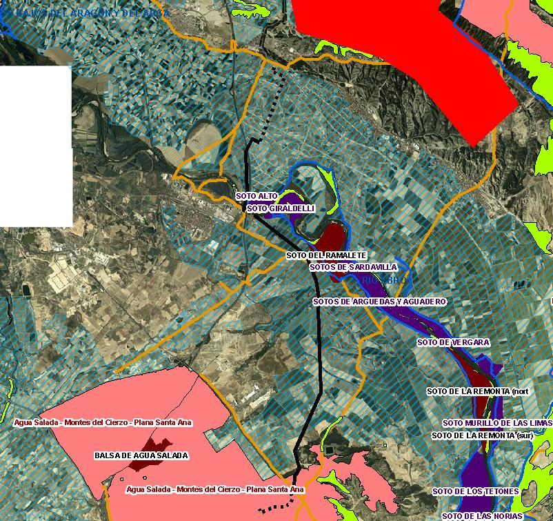Plano del trazado de la línea eléctrica de evacuación