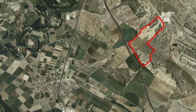 Localización de la zona de préstamo – vertedero en Villafranca