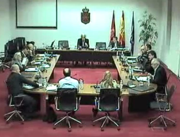 Imagen de una sesión anterior, tomada del video del Parlamento