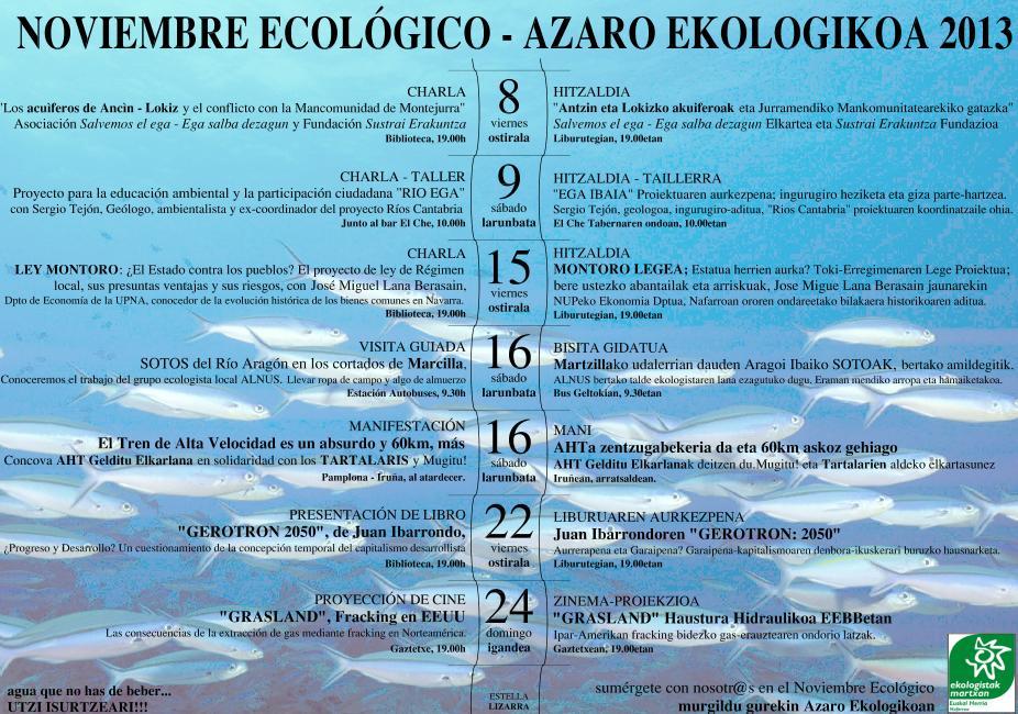 Lizarrako Azaro Ekologikoa jardunaldiaren kartela