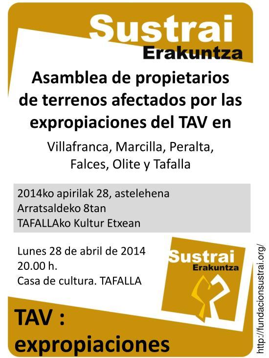 Cartel de la Asamblea de Propietarios de Tafalla