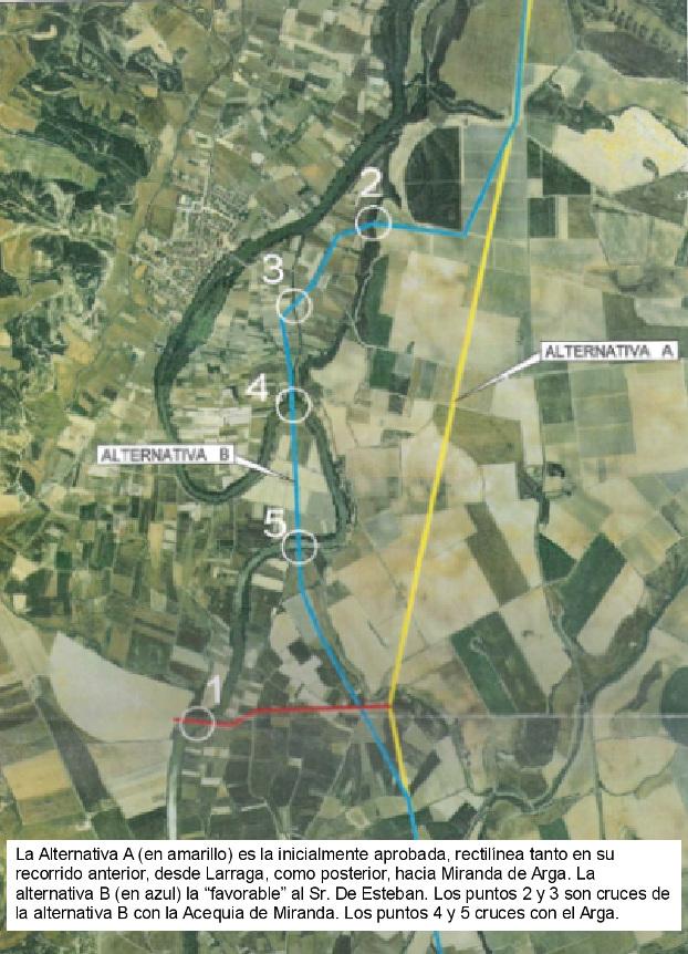 Imagen aérea de los dos trazados (click para ampliarla)