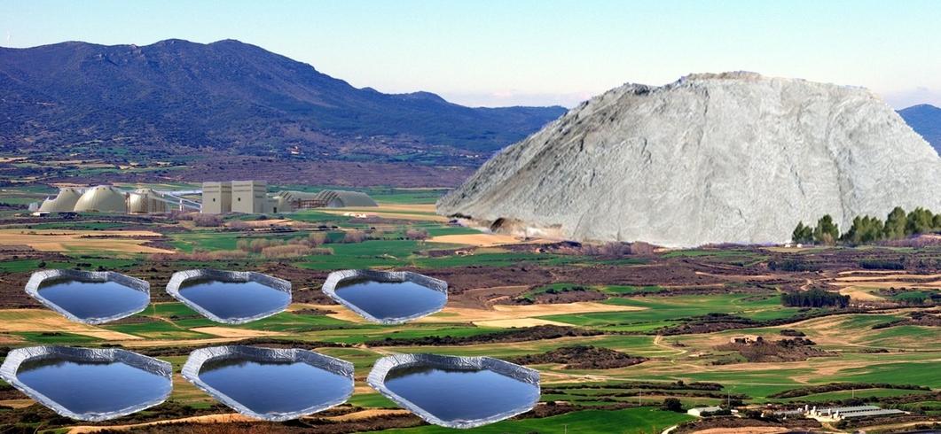 Recreación de la planta de aprovechamiento de la mina, en Sangüesa
