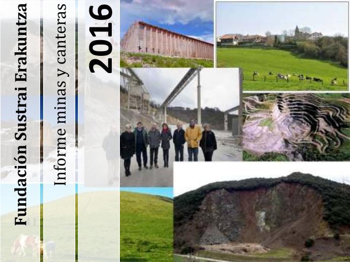 Portada del informe sobre Minas y Canteras en Navarra