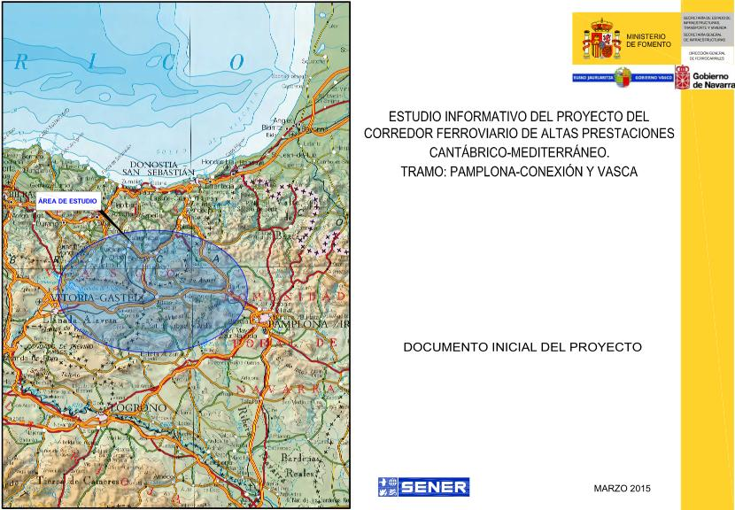 Portada del documento inicial del proyecto, recibido por los ayuntamientos y otras entidades