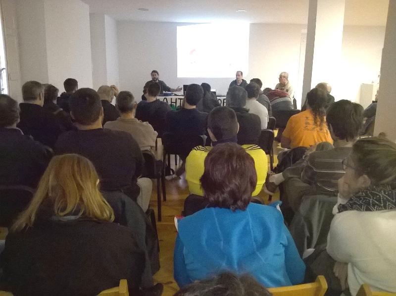 Foto de la charla realizada en Ororbia