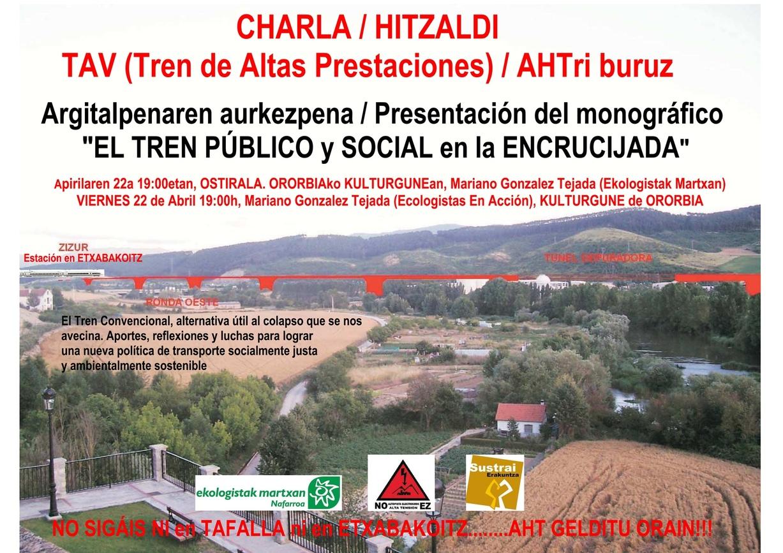 Cartel de la charla en Ororbia