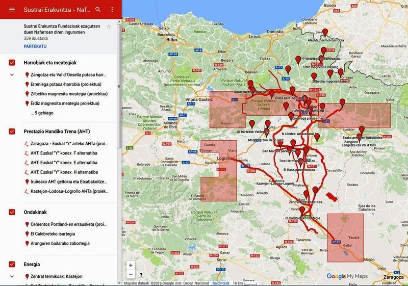 Imagen del mapa de conflictos de Navarra