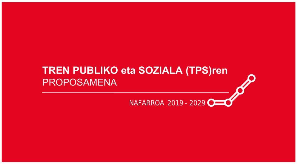 Tren Publiko eta Sozialaren proposamen berrituaren azala