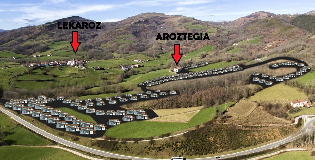 Recreación de la urbanización y campo de golf de Aroztegia...